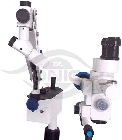 Wall Mount ENT Surgical Microscope 3 Step,45/° Fixed Binoculars with LED Screen,Beam Splitter,C Mount,HD Camera Full Setup 110-240V