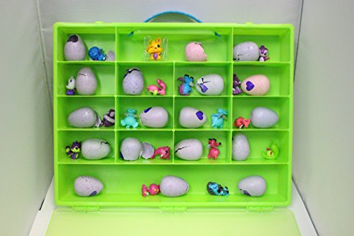 Speckled Coral (Egg Storage Organizer By Fun For Life - compatible with the Hatchimals and Hatchimal Colleggtibles Brands - Durable Carrying Case For Mini Eggs, Easter Eggs & Speckled Eggs – Green)