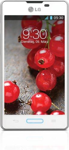 LG E460 Optimus L5 II Smartphone (10,2 cm (4 Zoll) Touchscreen, 1GHz, 512MB RAM, 5 Megapixel Kamera, Android 4.1) weiß