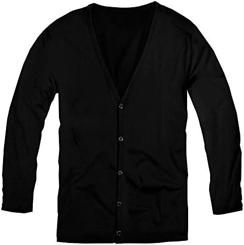 カーディガン メンズ 無地 カーディガン シンプル ニット長袖 ブラック 黒 f280 f280-l-men