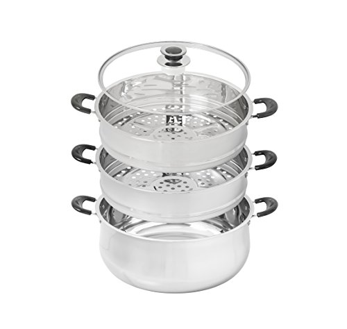 30 CM Stainless Steel 3 Tier Steamer Pot Steaming Cookware by Concord by Concord (Image #1)