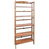 Bamboo 5-Shelf Bookcase, Natural