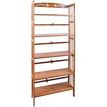 bamboo 5shelf bookcase natural