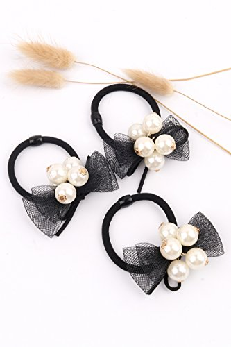 Generic [19]_a_full_feature_ stylish _Korean_lace_net_yarn_sweet_personality_made_up ring-hair_ head hair Headdress rope_Rubber_Band