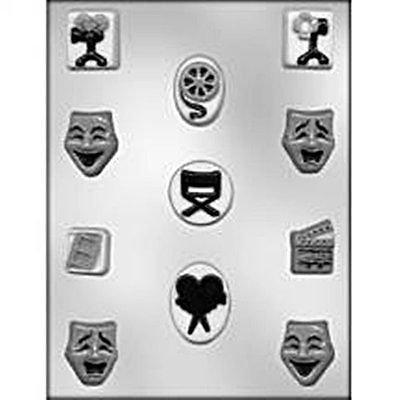 Movie Night Chocolate Candy Mold Clapboard Theatre Sound Action Mask Film ()