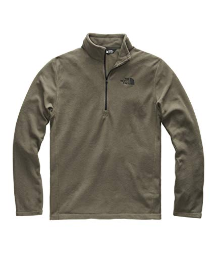 (The North Face Men's TKA 100 Glacier 1/4 Zip New Taupe Green/TNF Black XX-Large)
