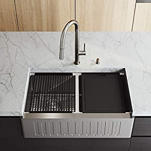 41lLiD8%2BCIL._SS300_ 75+ Beautiful Stainless Steel Farmhouse Sinks For 2020
