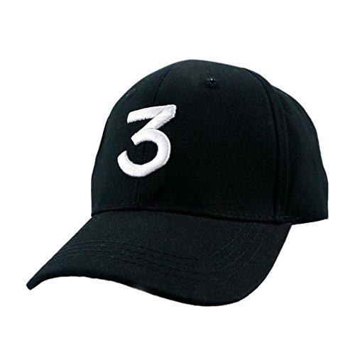 BeiGangStyle Unisex Hat Letter Chance 3 Cap Summer Fashion Cap Chance The Rapper  Baseball Cap Chance Baseball Cap Black 8190d25e4acb