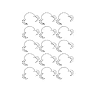 IVYRISE 15 PCS Mouthpieces Retractor, Size Medium 120×80×20mm, Mouth Opener for Speak Out Loud Games C-shape Dental Tool Cheek Retractor Party Game Toys