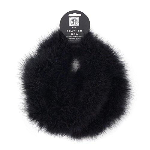 ZUCKER Marabou Craft Boas Solid Colors - Black ()