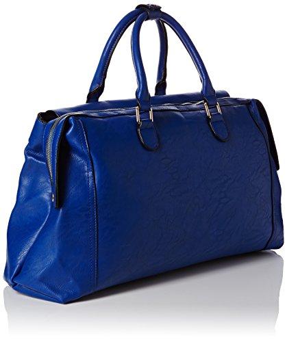 SwankySwans - Hudson Snakeskin Trim, Borse a Tracolla Donna Blu (Blue (Royal Blue))