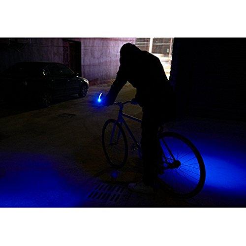 LaDicha Bicicleta Cuernos Luz Mountain Bike Señal Girar Luz ...