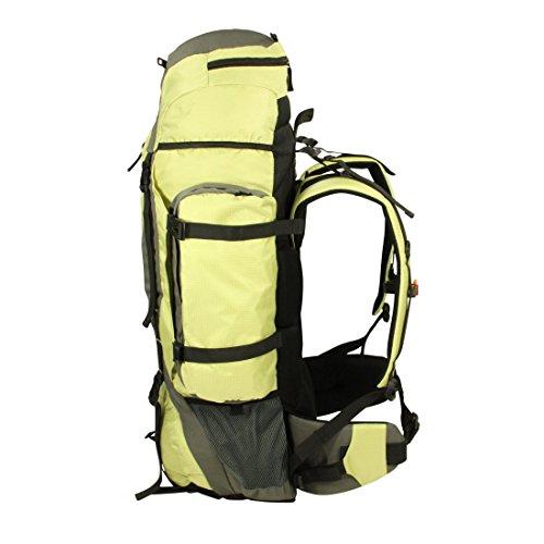 10T Abbott 80L Rucksack XXL Trekkingrucksack mit Regenschutz Reiserucksack Rückenlänge Hüft- & Schulter-Gurte einstellbar Wanderucksack mit Fächern Taschen Rückenbelüftung