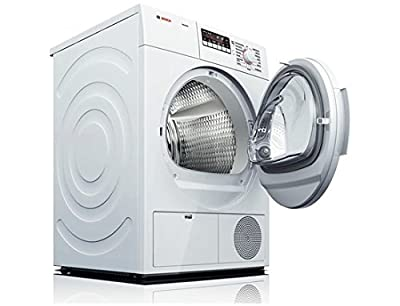 Bosch WTB86200UC 300 4.0 Cu. Ft. White Stackable Electric Dryer - Energy Star