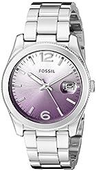 Fossil Women's ES3778 Perfect Boyfriend Analog Display Analog Quartz Silver Watch