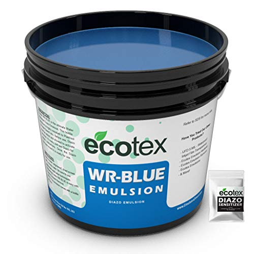 Ecotex WR-BLUE Water Resistant Textile Diazo Screen Printing Emulsion (Quart)