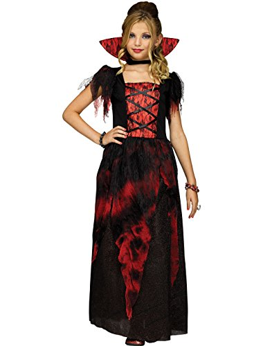 Fun World Girls Vampire Countessa Dracula Costume, Medium (8-10)