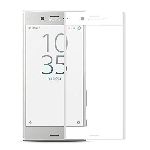 Price comparison product image Sony Xperia X Compact screen protector tempered glass, Feitenn 3D Curved Full Screen film 0.2mm HD Clear Gorilla Glass Protector Film For Sony Xperia X Compact (White)