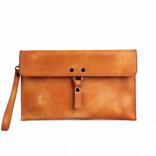 Retrò Personale Portafoglio Multi Casual Borsa Uomo Marrone Business Q Pacco Artigianale pack Bag Card H8vnZc
