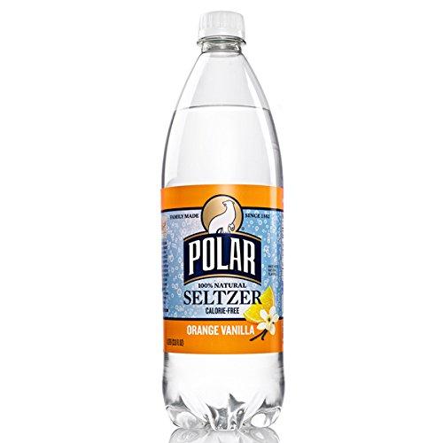 (Polar Orange Vanilla Seltzer 1 L Plastic Bottles - Pack of 12 )