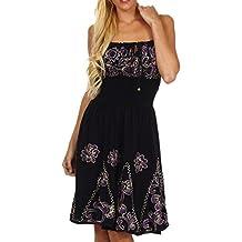 Sakkas Dharini Batik Smocked Empire Waist Dress