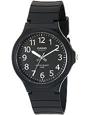 Casio Men's Classic Quartz Watch with Resin Strap, Black, 20.15 (Model: MW240-1BV)
