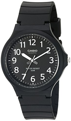 Black Quartz Pocket Watch - Casio Men's 'Easy To Read' Quartz Black Casual Watch (Model: MW240-1BV)