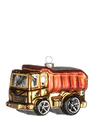 Retro Dump Truck 4 inch Glass Specialty Christmas Ornament