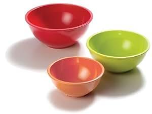 Norpro Bamboo Melamine Bowls, Set of 3