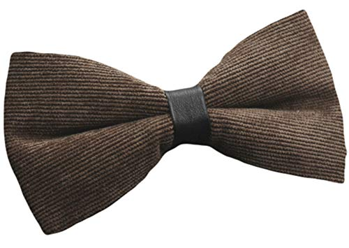 Flairs New York Flannel and Tweed Collection Bow Tie (Chocolate Brown [Corduroy])