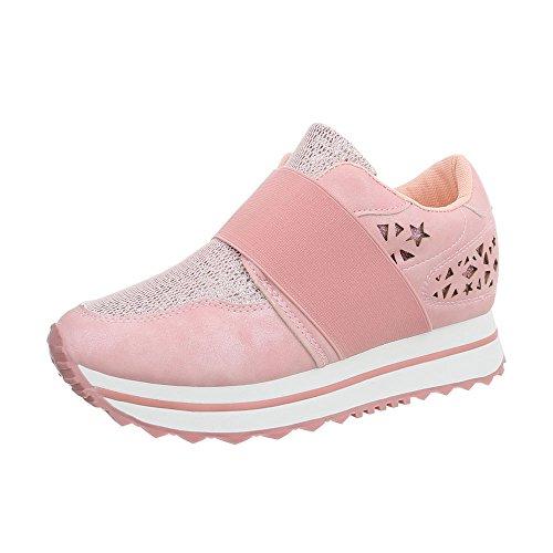 Low Donna Ital Da Sneaker design Fan5867 Rosa Scarpe Piatto Sneakers A00Tnq