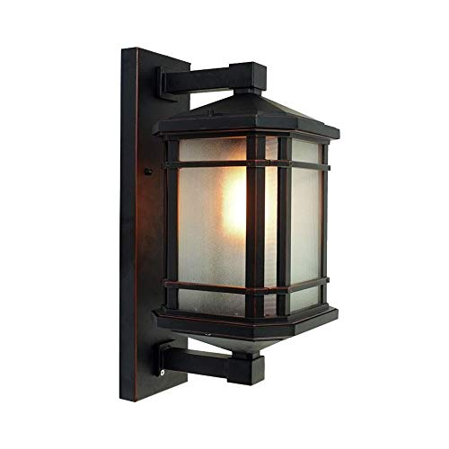 (Skingk Retro European Style Wall Light Lantern White Woven Lamp Waterproof Outdoor LED Wall Lamp Sconce Garden Villa Gate Light Garden Lamp Balcony Outer Spotlights (Size : 320mm))