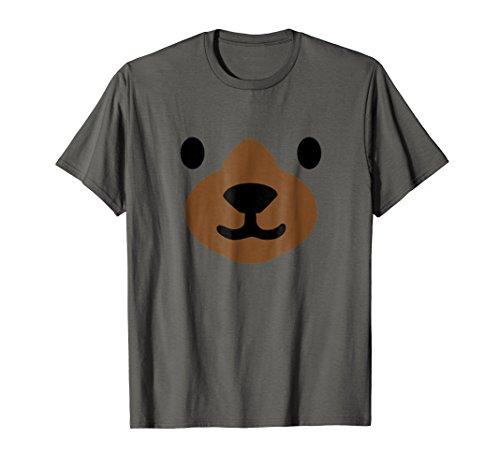 Bear Face Halloween Costume Shirt Funny -