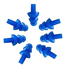 NewKelly 10pcs Earplugs for Swimming or Sleeping Silicone Soft Waterproof Earplugs Noise Cancelling Ears Plugs for Kids&Adult (A)