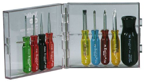 Xcelite PS88 Compact Convertible Screwdriver Set, With Clear