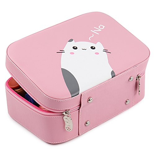 Waterproof Travel Make Up Cosmetic Dresser Organizer Pouch (Pink) - 9