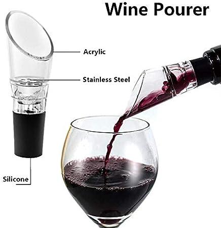 Haudang 10 paquetes de botellas de vino Aerator Pourer, tapón de aireación rápido