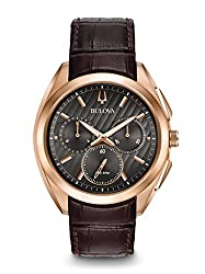 Bulova Men's Curv - 97A124 Stainless Steel/Rose Gold Watch