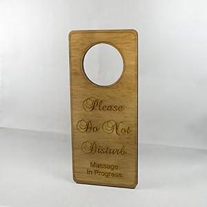 Amazon.com: Please Do Not Disturb Massage In Progress (Raw Wood ...