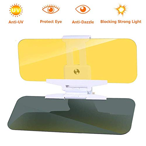 Night Anti-glare Visor for Car TechKen Car Anti-Glare Tinted Windshield Extender with Press button SUV Pickup Sun Visor Extender