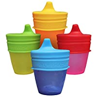 Sippy Cup Lids By MrLifeHack - (4 Pack) - Makes Any Cup Or Bottle Spill Proof...