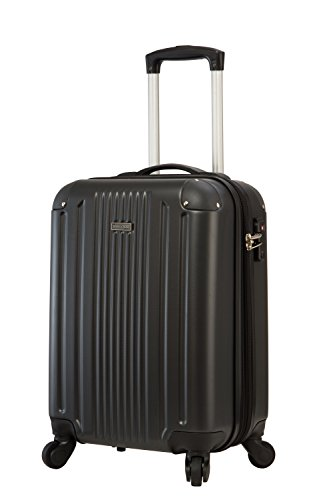 TravelCross Milano 20'' Carry-On Lightweight Hardshell Spinner Luggage - Black ()