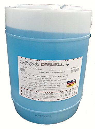 Caswell Black Oxide Concentrate For Steel & Iron - 5 Gallon Drum by Caswell Inc