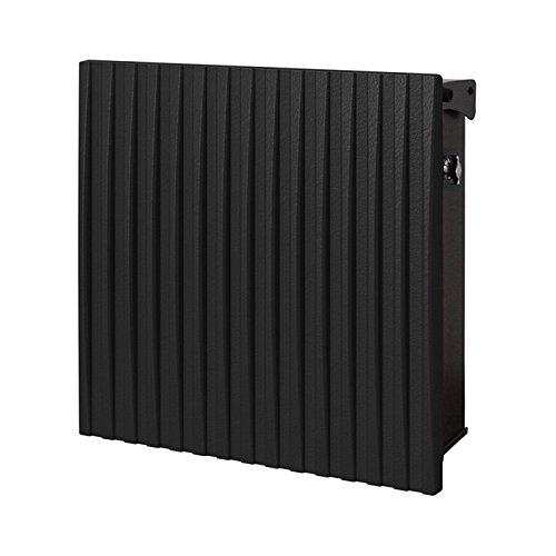 ポスト 郵便受け 郵便ポスト ヴァリオ ネオ ウェイビー 縦型 壁掛けタイプ(T型カムロック付) フロストブラック   B077Z66CKT