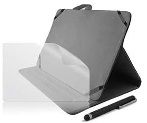 """Ksix BXPACK02T07N - Pack universal de funda tejana, stylus y protector de pantalla para tablets de 7"""", negro"""
