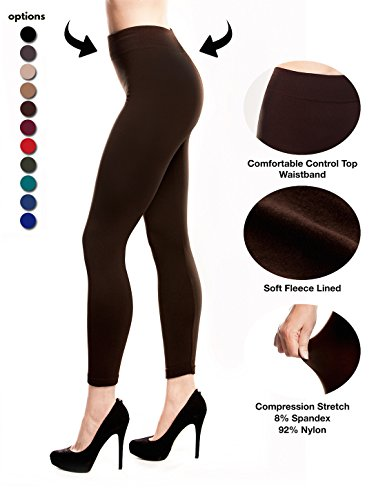 [Fleece Lined Leggings for Women Winter Thick Spandex Tights Thermal ...] (Elf Outfit For Women)