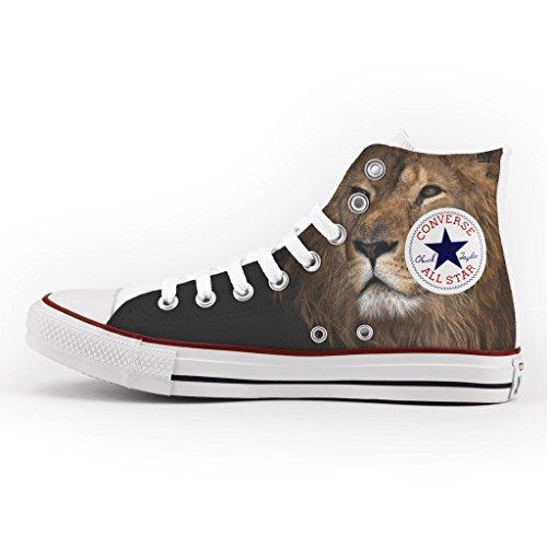 Converse All Star Personnalisé et Imprimés - chaussures à la main - produit Italien - Lion