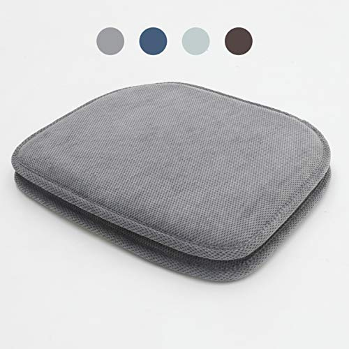 COLORIGHT Non Slip Memory Foam Chair Pads Chair Cushion, Set of 2 (Seats Large Table 14 Dining)