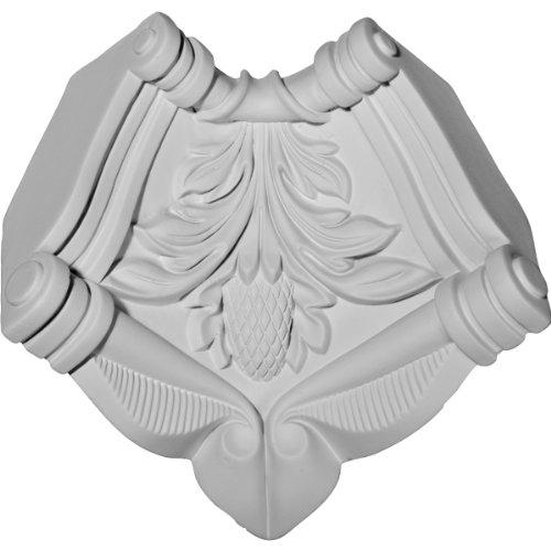 (Ekena Millwork MIC04X03MO 4 3/4-Inch H x 3 5/8-Inch P Monique Inside Corner for Moulding Profiles)