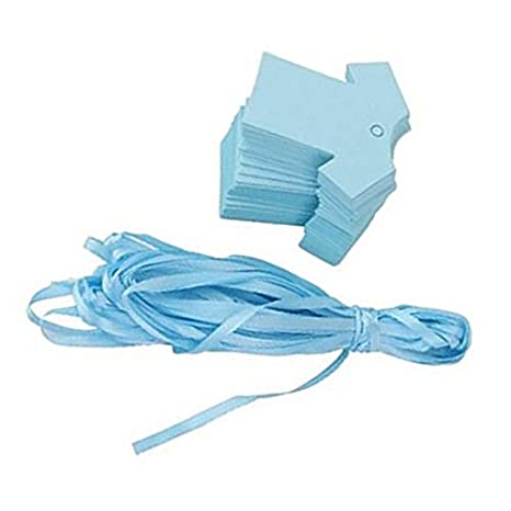 Hosaire 100/X Etichetta di Carta Natale Creativa Linda Biancheria da Beb/è Forma Etichetta di Stampa Scheda di Regalo Matrimonio di Messaggio di imballaggio di bricolage 5.5cm*5.5cm Blu